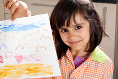 Proud little artist Royalty Free Stock Images