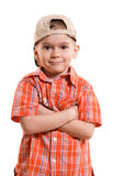 Proud little boy Royalty Free Stock Photo