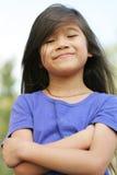 Proud little girl Royalty Free Stock Image
