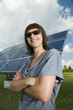 Proud look at the photovoltaics Royalty Free Stock Photo