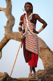 Proud Maasai warrior in Loitoktok, Kenya. Royalty Free Stock Photo
