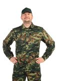 Proud man in military suit. Royalty Free Stock Images