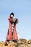 Proud man in Mongolian costume Stock Image