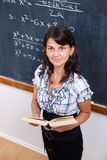 Proud math teacher with book Stock Photography