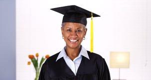 Proud mature African woman graduate Royalty Free Stock Photos