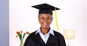 Proud mature woman graduate Stock Photos