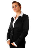 Proud modern business woman Royalty Free Stock Image