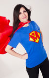 Proud Mom Character Outfit Super Hero Mother Red Stock Photo