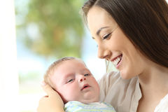 Proud mother and baby Stock Images