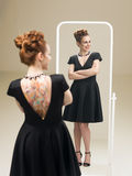 Proud of my little black dress Stock Photos