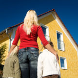 Proud of the new home Stock Photos