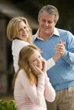 Proud parents Stock Image