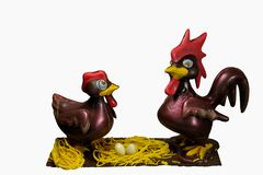 chocolate chickens Royalty Free Stock Photography