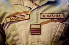 Proud Police uniform. Pround police uniform comming from Afghanistan mission stock images