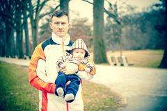 Proud Protective Father Royalty Free Stock Images
