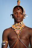 Proud Samburu warrior in Archers Post, Kenya. Stock Photo