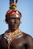 Proud Samburu warrior in Archers Post, Kenya. Stock Photos
