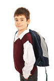 Proud schoolboy with bag Royalty Free Stock Photography