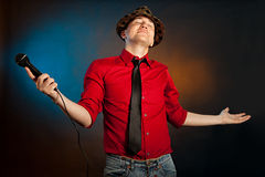 Proud singer Stock Photography