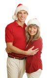 Proud Single Mom at Christmas stock photo