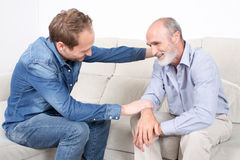 Proud son with father Royalty Free Stock Image