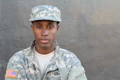 Proud and strong army soldier close up royalty free stock photo