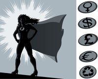 Proud superhero stance Stock Images