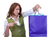 Proud Teen Shopper Stock Photography