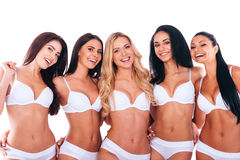 Proud of their shape bodies. Royalty Free Stock Image