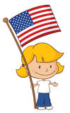Proud to be American Girl Stock Image