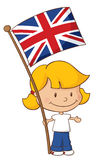 Proud to be British Girl Stock Image