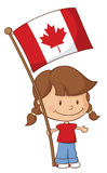 Proud to be Canadian Girl Stock Images