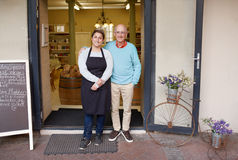 Proud to be deli owners Stock Images