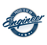Proud to be engineer vector emblem design Royalty Free Stock Photo