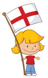 Proud to be English Girl Stock Photography