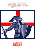 Proud to Be English Happy St George Day Card Royalty Free Stock Image