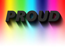 Proud to be gay Stock Images