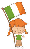 Proud to be Irish Girl Royalty Free Stock Photo