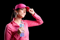 Proud woman fitness and sport Royalty Free Stock Photography