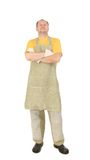 Proud worker in apron. Royalty Free Stock Photos