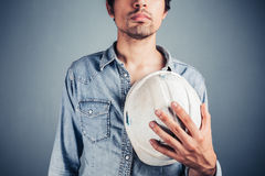 Proud worker with hard hat Stock Photos