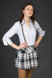 Proud young girl in a skirt Royalty Free Stock Photo