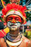 Proud young man in Papua New Guinea Stock Image