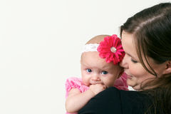 Proud young mother holding baby Royalty Free Stock Photos