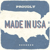 Proudly Made in USA. Vintage Background, Vector, EPS10 Stock Photos