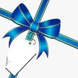Proue bleue avec l'étiquette illustration libre de droits