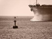 Proue de pétrolier Photo stock