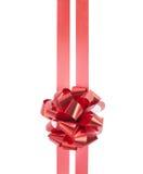 Proue et bandes rouges de cadeau Images stock