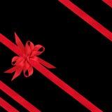 Proue et bandes rouges de satin Photos libres de droits