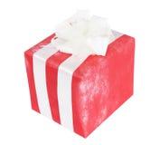 Proue rouge de cadeau Images stock